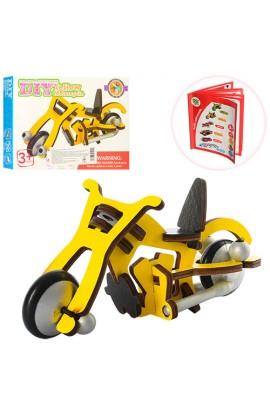 Дерев'яна іграшка Пазли 3D MD 1004 мотоцикл, кор., 20-15-3,5 см.