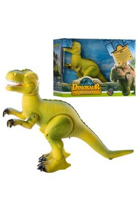 Динозавр 8801 ходить, рухає головою, щелепою, лапами, муз., світло, бат., кор., 36-27,5-12 см.