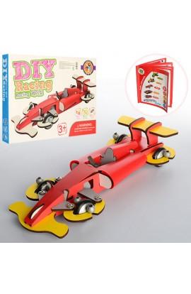 Дерев'яна іграшка Конструктор MD 1003 на шурупах, гоночна машина, кор., 32-23-3,5 см.