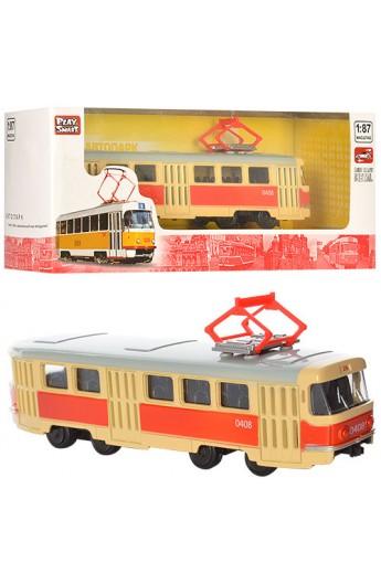 Трамвай 6411A мет., інерц., кор., 19,5-5-7,5 см.