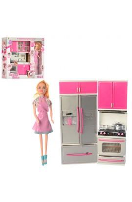 Меблі 7922-1-2 кухня, лялька, посуд, 2 види, муз., світло, бат. (табл.), кор., 39-34,5-8 см.
