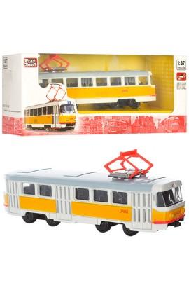 Трамвай 6411B мет., інерц., кор., 19,5-5-7,5 см.