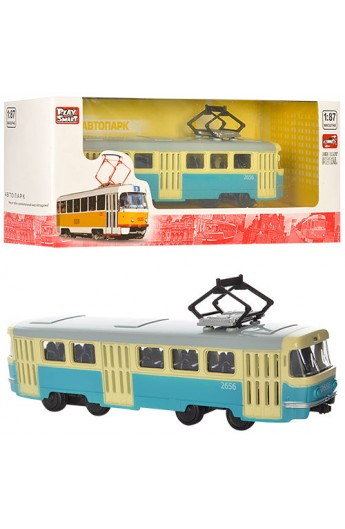 Трамвай 6411C мет., інерц., кор., 19,5-5-7,5 см.