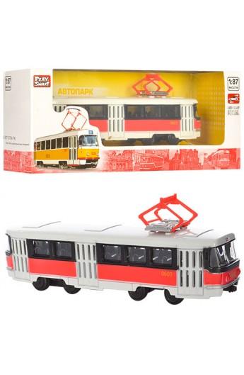 Трамвай 6411D мет., інерц., кор., 19,5-5-7,5 см.