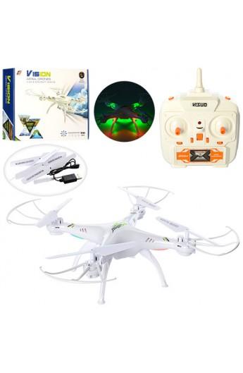 Квадрокоптер XS801 радіокер., 2,4G, акум., світло, USB, запасні лопасті, кор., 41-33,5-9,5 см.