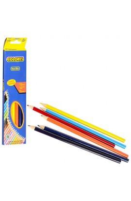 Олівці 161-8 6 шт., кольорові, кор., 20,5-4,5-1 см.