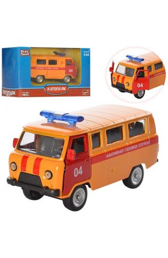 Уазик 6402 D мет., аварійна газова служба, інерц., відчин. двері, кор., 12-7-6 см.