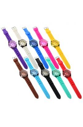 Годинники CT-6 механічні, наручні, 25 см., силіконовий ремінець, 10 кольорів, кул., 25-4,5-1 см.