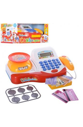 Касовий апарат 66066 калькулятор, сканер, ваги, муз., світло, бат., кор., 32-17,5-13,5 см.
