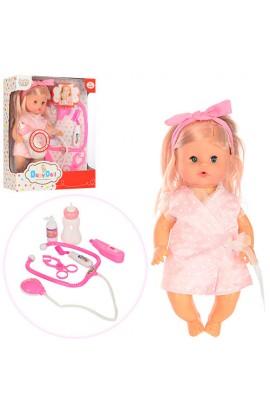 Лялька 201530 набір лікаря, пляшечка, бат., кор., 32-26-12 см.
