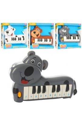 Піаніно 889-8-11-13-17 собачка, 2 режими (муз., ноти), 4 види, бат., кор., 20-19-3,5 см.