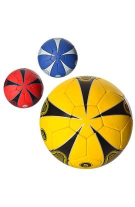 М'яч футбольний 2500-17ABC розмір 5, ПУ 1,4 мм., 32 панелі, 400-420 г., 3 кольори.