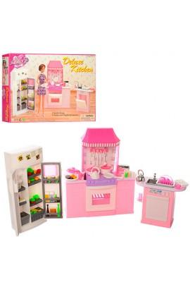 Меблі 9986 кухня, плита, духовка, холодильник, раковина, посуд, кор., 38-24,5-6 см.