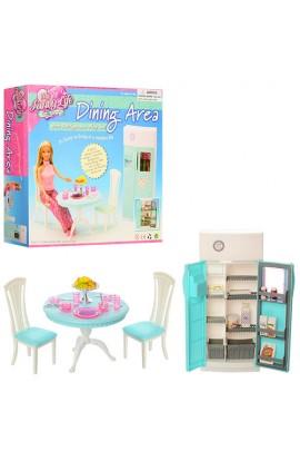Меблі 2812 кухня, стіл, стільці, холодильник, посуд, кор., 26-24-25 см.