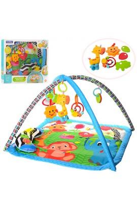 Килимок для немовляти 27286 дуга 2 шт., підвіски, подушка, муз., бат., кор., 64-55-6,5 см.