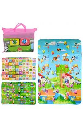 Бебіпол M 3514 тепла підлога для дітей, малюнки двусторонні, 3 види, сумка, 43-53-9 см.