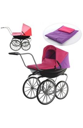 Візок 9621 для ляльки, класика, колеса 4 шт., матрац, подушка, кор., 39-58-27см