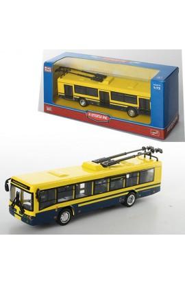 Тролейбус 6407D інерц., мет., гумові колеса, кор., 20-8-6 см