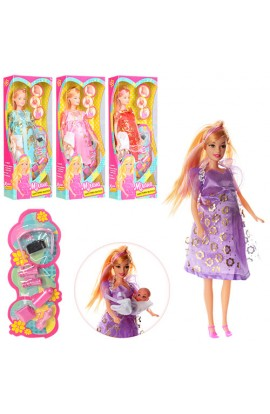 Лялька 88069-1 вагітна, пупс, аксесуари, 2 види, кор.,12,5-33-5 см