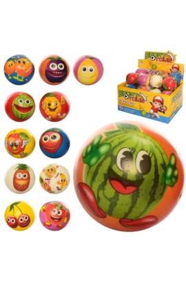 М'яч дитячий фомовий E3020 7 см., фрукти, 24 шт. (мікс видів) в диспл., 29,5-22,5-15 см.