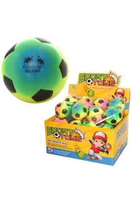 М'яч дитячий фомовий E3002 7 см., футбол, веселка, 24 шт. в диспл., 29,5-22,5-15 см.