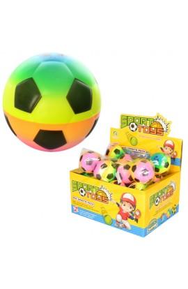 М'яч дитячий фомовий E2502 6 см., футбол, веселка, 24 шт. в диспл., 25-18,5-12,5 см.