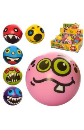 М'яч дитячий фомовий E4018 9,5 см., монстри, 12 шт. (мікс видів) в диспл., 38-28-10 см.