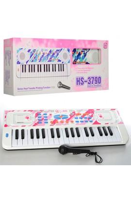 Синтезатор HS3711A-1-3790B-1 37 клавіш, 8 ритмів, запис, 8 тонів, 2 кольори, бат., кор., 60-23,5-8,5