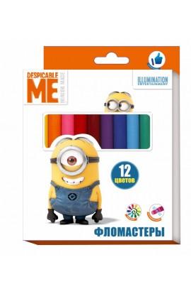 Фломастери 12 кольорів,ТМ Despicable Me © Universal Studios