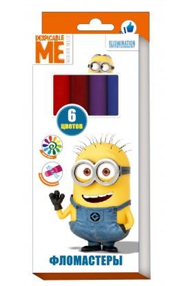 Фломастери 6 кольорів, ТМ Despicable Me © Universal Studios