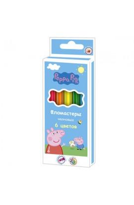 Фломастери неон 6 кольорів , ТМ Peppa Pig