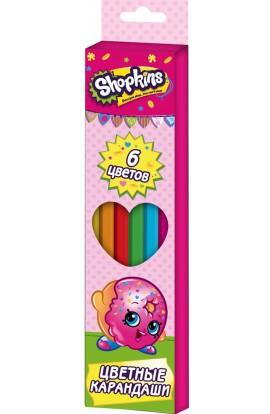 Кольорові олівці 6 кольорів, ТМ Shopkins
