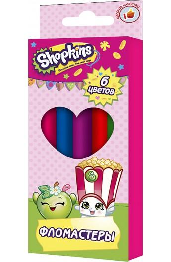 Фломастери 6 кольорів, ТМ Shopkins