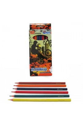 1051F-12 Олівці пластик.  Extreme  12 кол., в картоні, европ. J. Otten