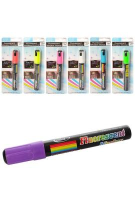 Фломастери MK 1441 1 шт., неон, мікс кольорів, лист, 70-20-2 см.