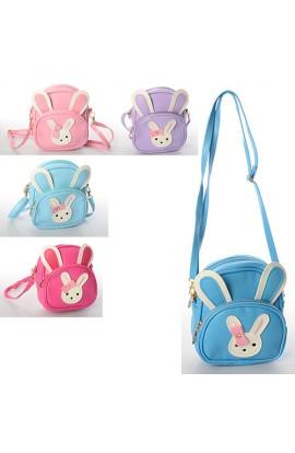 Сумочка X11593 2 в 1 (рюкзак), зайчик, застібка-блискавка, довга ручка, 1 зовн. кишеня, мікс кольорі
