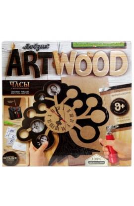 Набір креативної творчості  ARTWOOD настінний годинник  випилювання лобзиком, LBZ-01-01, 02, 03, 04,