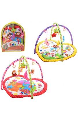 Килимок для немовляти 8931AB дуга 2 шт., підвіски 5 шт. (1 вид-муз.,), 2 види, бат., сумка, 51-62-7