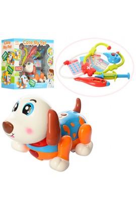 Собака 11032 лікар, танцює, стетоскоп, термометр, шприц, муз., світло, бат. (табл.), кор., 39-16-34