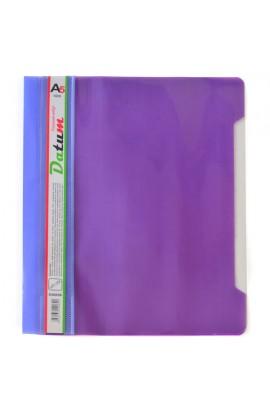 Скоросшиватель пластик. А5 фиолет./розовый, с перф.