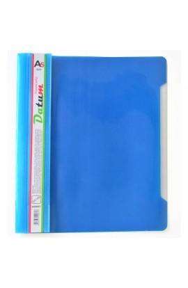 Скоросшиватель пластик. А5 синий/голубой, с перф.