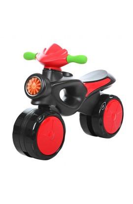 Каталка-толокар 8201-3 (1шт) мотоцикл пласт, черв.