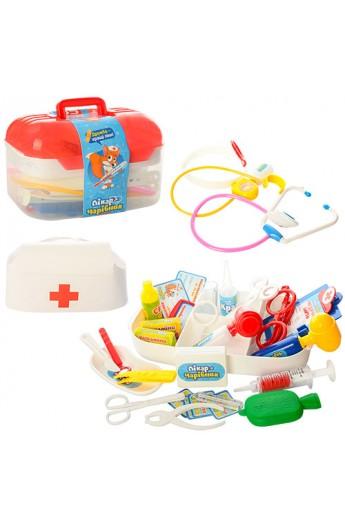 Лікар M 0460 U/R 34 предмети, світло, валіза, 24-15-15 см.