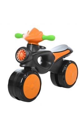 Каталка-толокар 8201-7 (1шт) мотоцикл пласт, померанч.