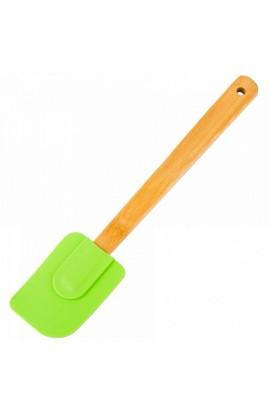Лопатка силіконова з бамбуковою ручкою, HH-071B