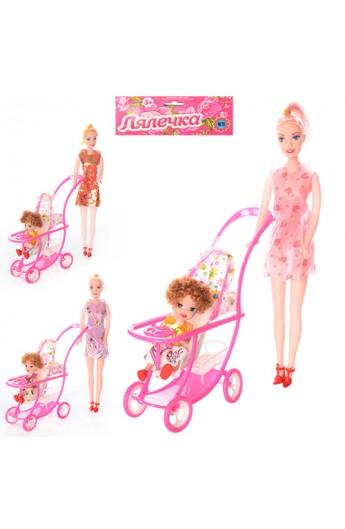 Лялька 339-1/2214 2 шт., коляска, кул., 27 см