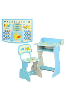 Парта HB 2029 A-04-7 регулюється висота, стілець, блакитна, кор., 60,5-48,5-75 см