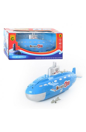 Катер М 1809 підводний човен, муз., світло, бат., кор., 26-12,5-12 см
