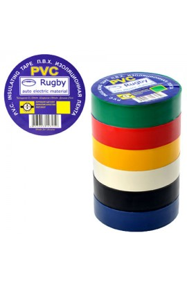 Ізоляційна стрічка ПВХ 10м  Rugby , RUGBY 10m assorti