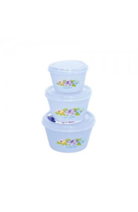 Набір судків пластикових  Rozita  3шт/наборі, PB014